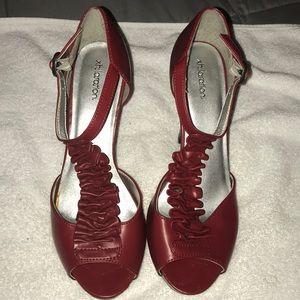 Red Xhilaration Heels